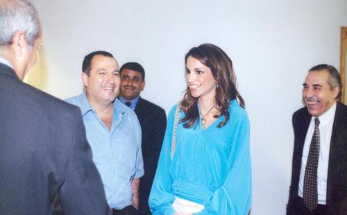 عدنان الكاتب والملكة رانيا